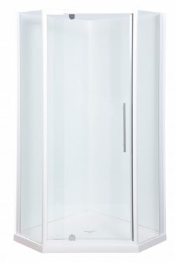 Flinders Corner Shower Screen White